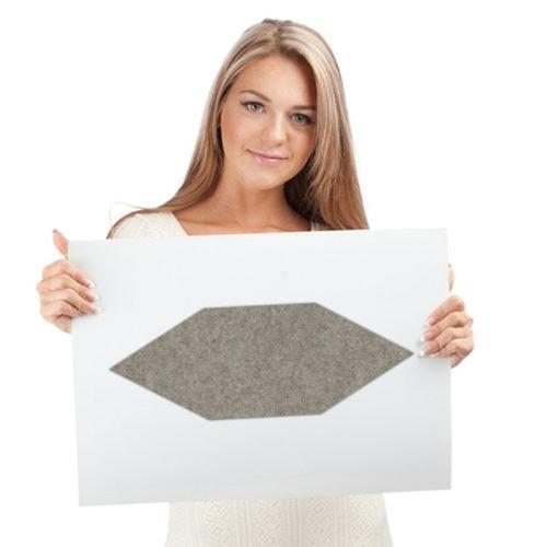 felty Filz Fliese zur Wandgestaltung Wohnraum Modell James Größe L Farbe A02 beige meliert Modellbeispiel