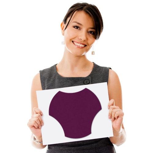 felty Filz Fliese zur Wandgestaltung Wohnraum Modell Jasmin Größe M Farbe A56 violett Modellbeispiel
