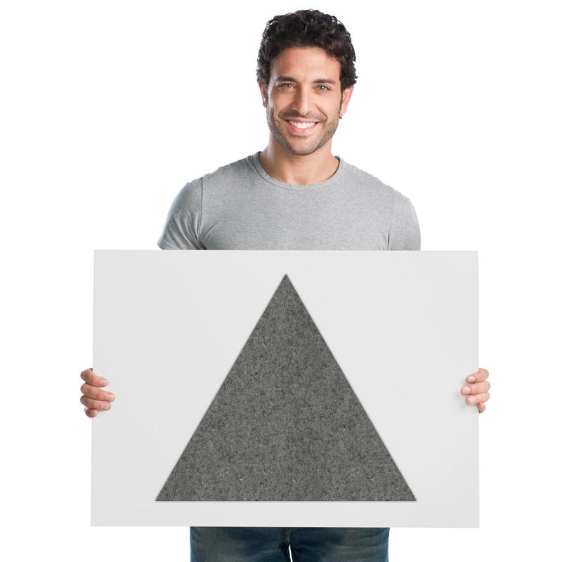 felty Filz Fliese zur Wandgestaltung Wohnraum Modell Karen Größe L Farbe A08 quarz meliert Modellbeispiel
