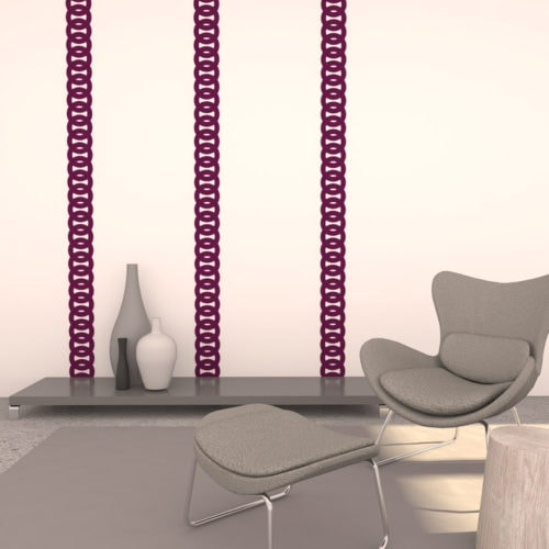 felty Filz Border Bordüre zur Wandgestaltung Wohnraum Modell Robin Größe L Farbe A56 violett Szene 01