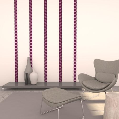 felty Filz Border Bordüre zur Wandgestaltung Wohnraum Modell Robin Größe S Farbe A56 violett Szene 01