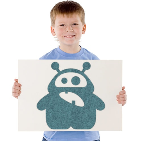 felty Filz Figur Monster zur Wandgestaltung Wohnraum Kinder Modell Anton Antenna Größe S Farbe A15 pazifik meliert Modellbeispiel