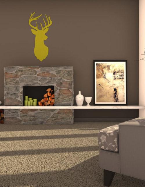 filz-figuren zur effektvollen wandgestaltung - felty, Wohnzimmer