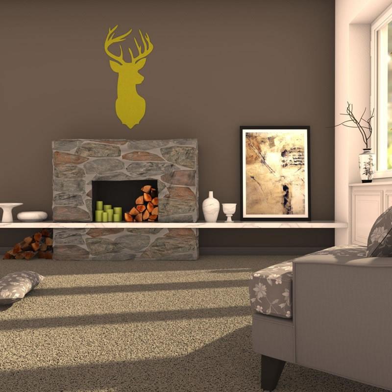 Felty Filz Figur Zur Wandgestaltung Wohnraum Modell Tier Bruno Größe L Farbe  A60 Kiwi Wohnzimmer Kamin