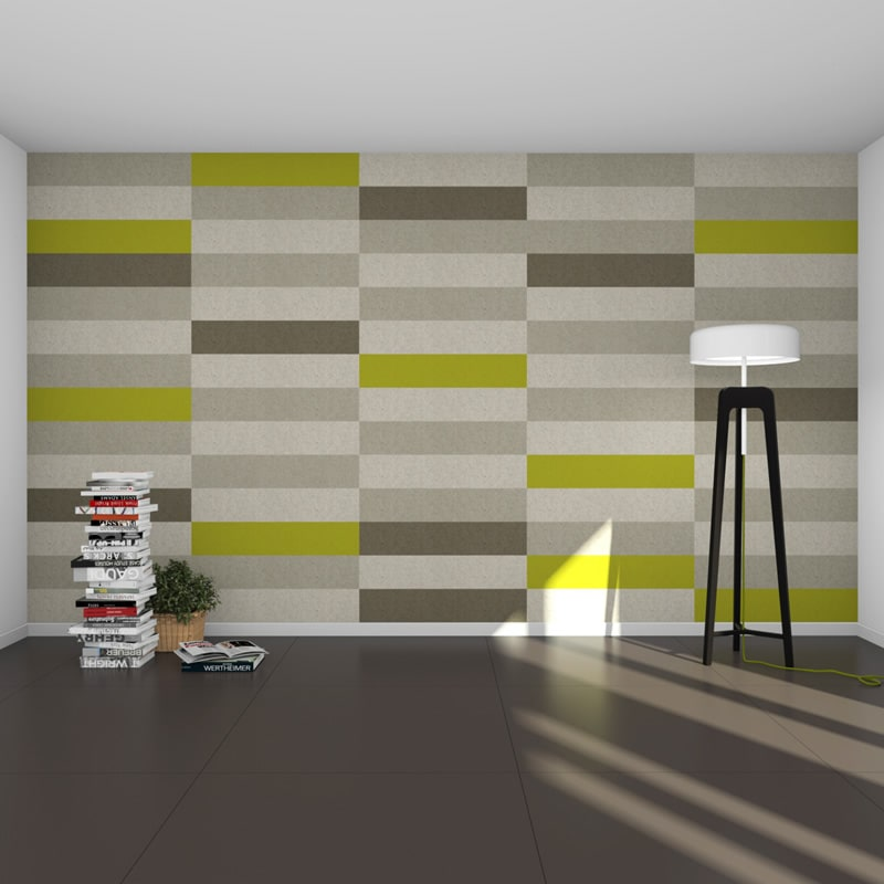 felty Filz Fliese zur Wandgestaltung Wohnraum Modell Maria Größe L Farbkombination Wohnzimmer Szene 01