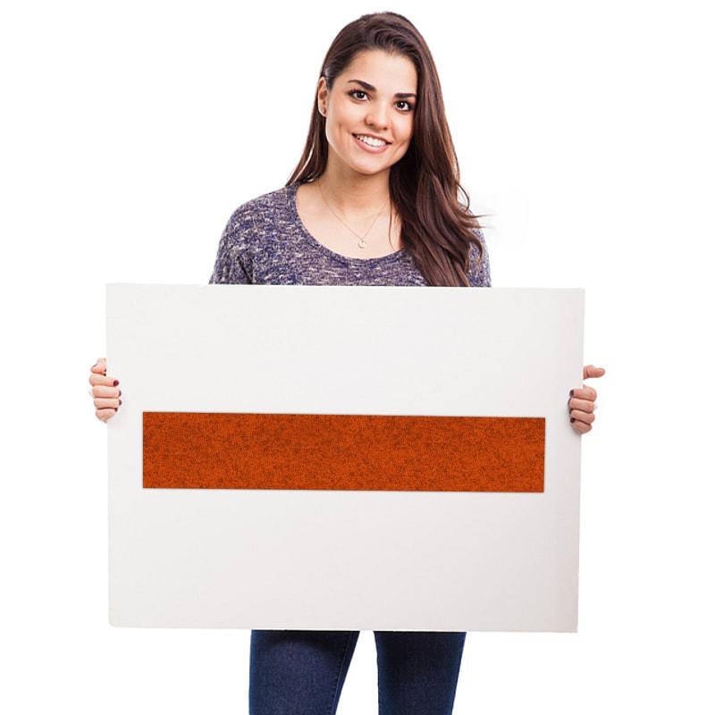 felty Filz Fliese zur Wandgestaltung Wohnraum Modell Maria Größe M Farbe A13 orange meliert Modellbeispiel