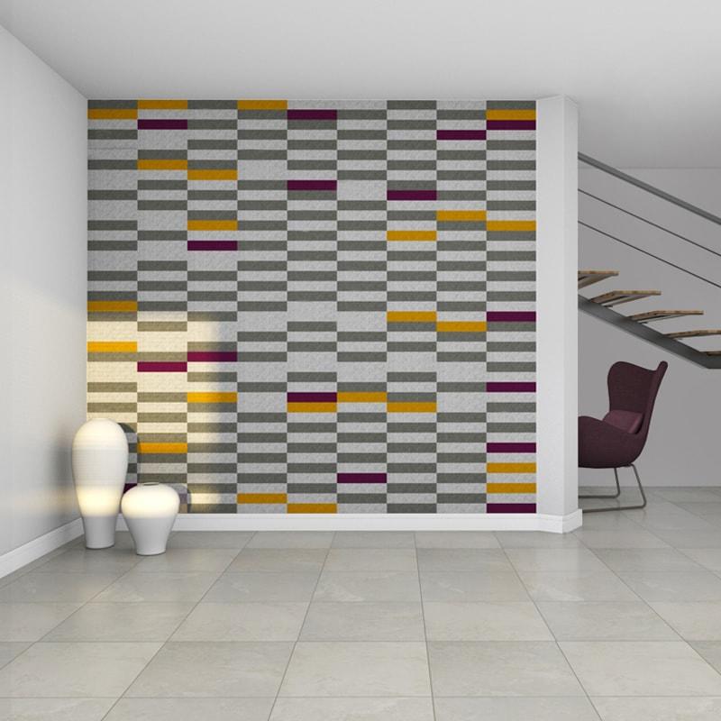 felty Filz Fliese zur Wandgestaltung Wohnraum Modell Maria Größe S Farbkombination Wohnzimmer Szene 01