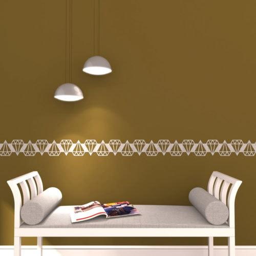 felty Filz Border Bordüre zur Wandgestaltung Wohnraum Modell Rich Größe M Farbe A01 rohweiß meliert Szene 01