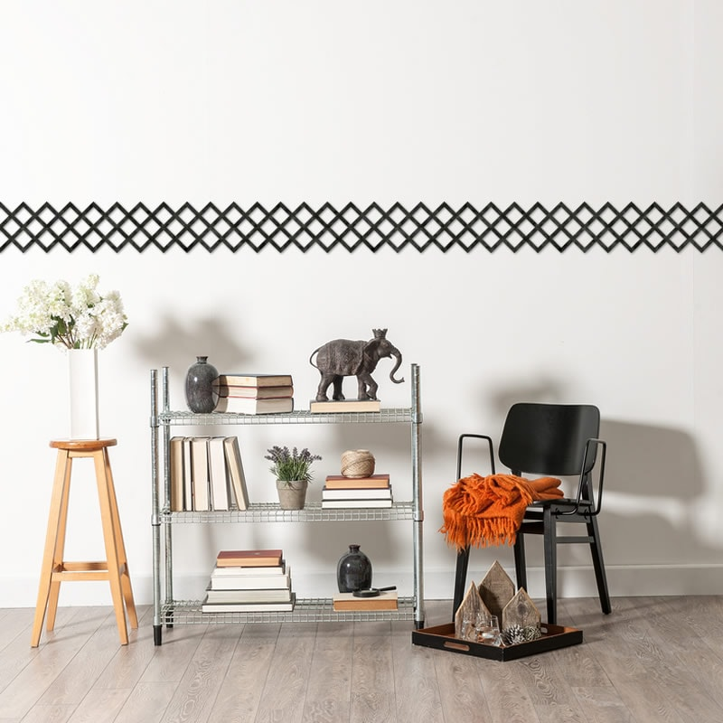 felty Filz Border Bordüre zur Wandgestaltung Wohnraum Modell Timmy Größe L Farbe A10 schwarz meliert Szene 02
