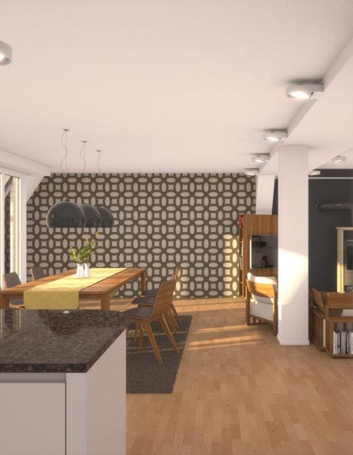 Wandgestaltung Wohnzimmer - selbstklebende Filz Designs ♥ felty