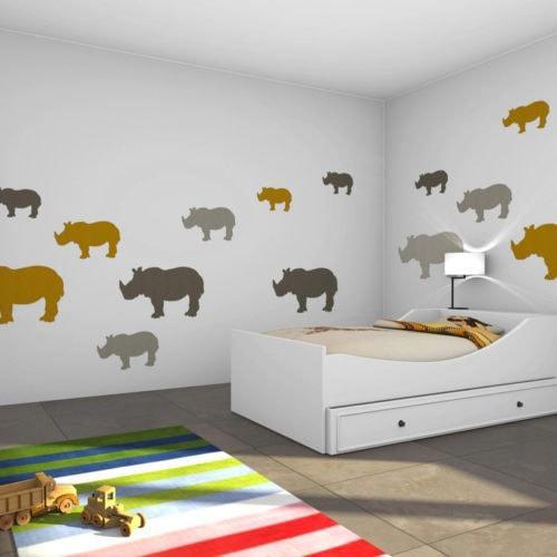 felty Filz Figur zur Wandgestaltung Wohnraum Modell Tier Sam Farb- und Größenkombination Kinderzimmer Szene 01