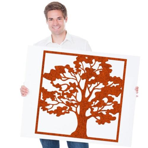 felty Filz Poster Modell Oak Größe L Farbe A13 orange meliert Modellbeispiel