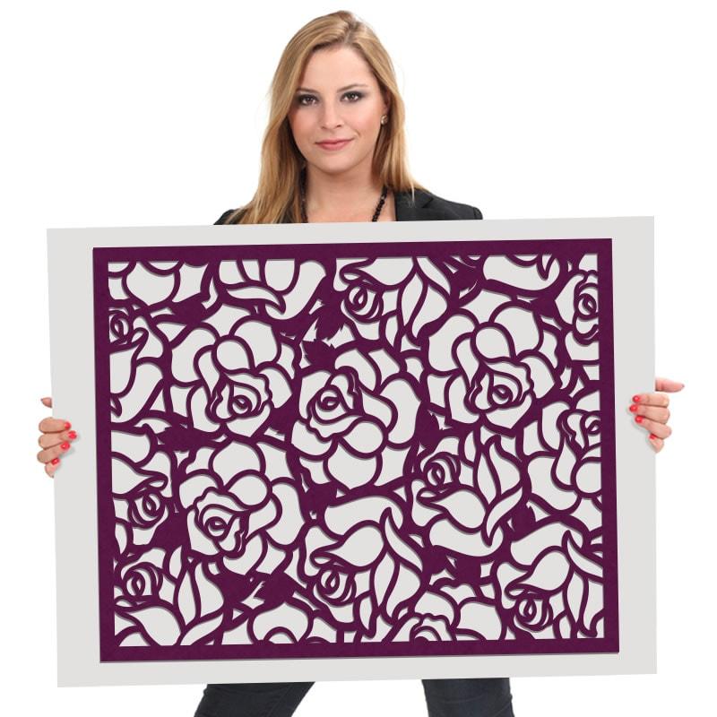felty Filz Poster Modell Ringo Größe L Farbe A56 violett Modellbeispiel