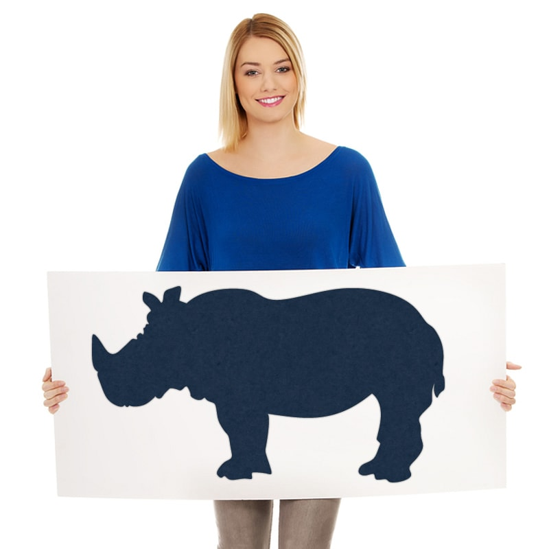 felty Filz Figur zur Wandgestaltung Wohnraum Modell Tier Sam Größe M Farbe A82 stahlblau Modellbeispiel