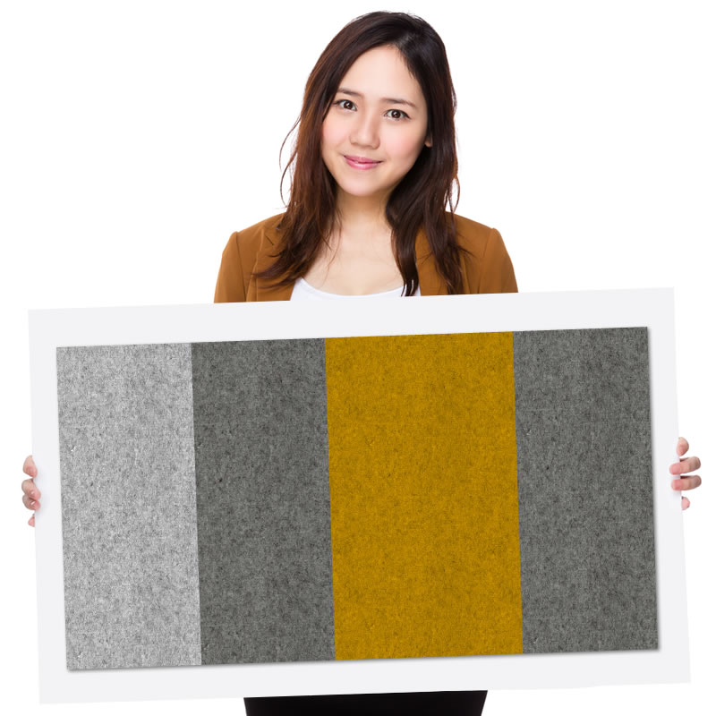 felty Filz Pinnwand Wollfilz auf Vliesplatte zur Wandgestaltung Wohnraum Modell Message Pinnwand Farbkombination aus 4 Farben Model