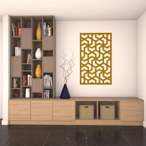 felty Filz Poster zur Wandgestaltung Wohnraum Modell Aram Farbe A12 senfgelb meliert Szene 02