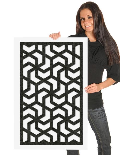 felty Filz Poster Modell Aram Größe M Farbe A10 schwarz meliert Modellbeispiel