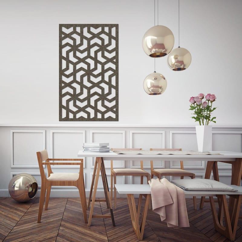 Felty Filz Poster Aram Größe M Farbe A03 Erdbraun Meliert Wanddeko  Wohnzimmer