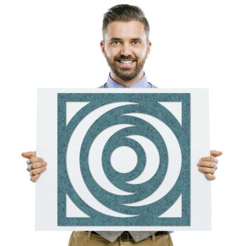 felty Filz Poster Modell Ringo Größe M Farbe A15 pazifik meliert Modellbeispiel