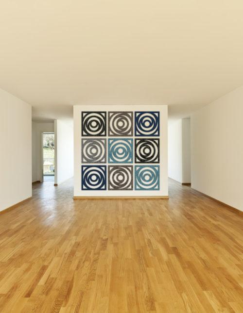 wandgestaltung flur viele formen und farben felty. Black Bedroom Furniture Sets. Home Design Ideas