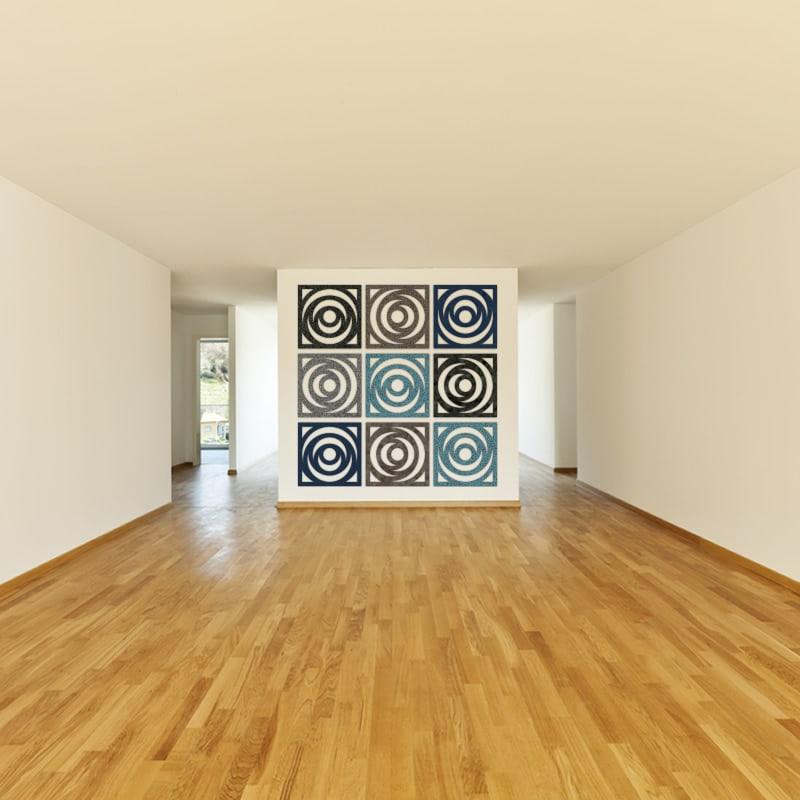 felty Filz Poster zur Wandgestaltung Wohnraum Modell Ringo Größe M Farbkombination Szene 01