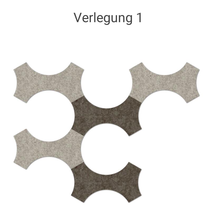 felty Filz Fliese zur Wandgestaltung Wohnraum Modell Bone Farb- und Verlegekombination Szene 01