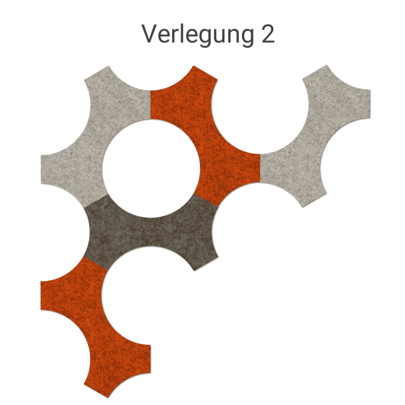 felty Filz Fliese zur Wandgestaltung Wohnraum Modell Bone Farb- und Verlegekombination Szene 02