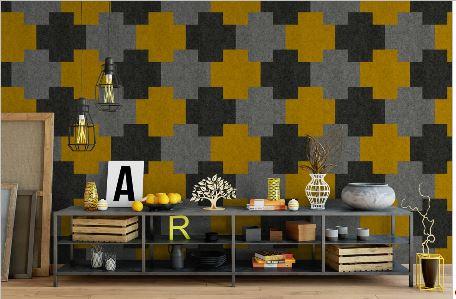 Farbgestaltung  Farbgestaltung mit Filz - Veredeln Sie Ihre Wände mit Stil | felty