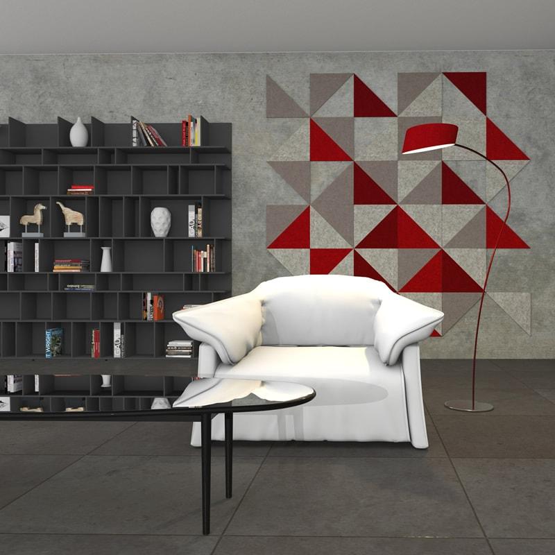 filz fliese brandi w nde gestalten mit wollfilz schnell 100 edel felty. Black Bedroom Furniture Sets. Home Design Ideas