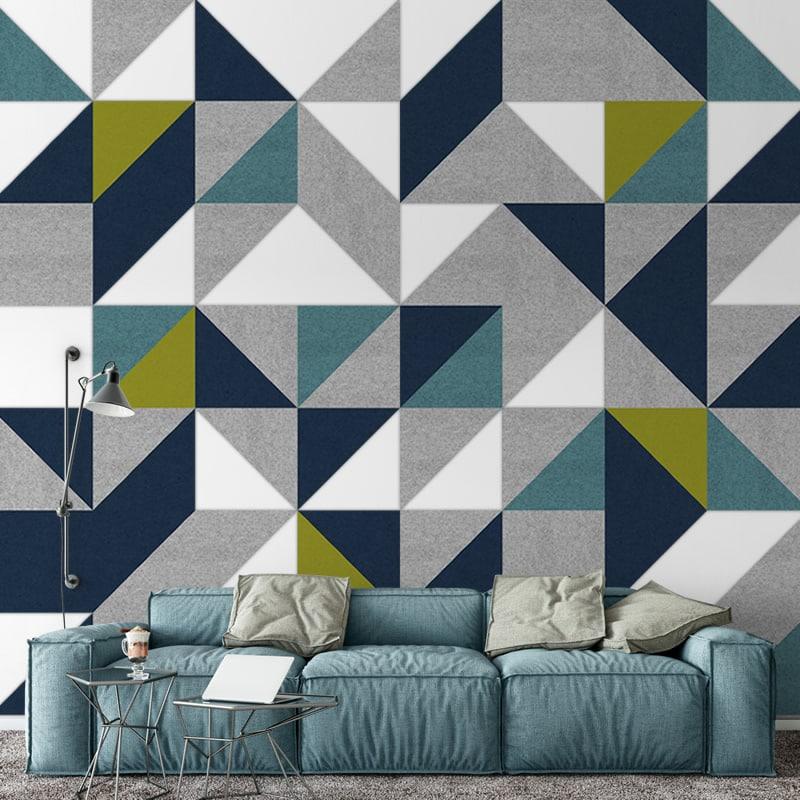 Filz-Fliese Brandi zur dekorativen Wohnraumgestaltung