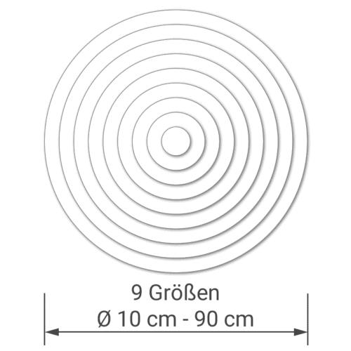 felty Filz Pinnwand Dot in 9 Größen Durchmesser von 10 cm bis 90 cm und 14 Standarfarben