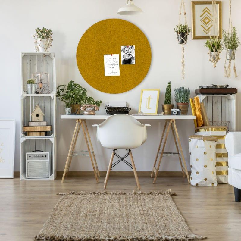 neuheit filz pinnwand dot runde pinnwand in vielen. Black Bedroom Furniture Sets. Home Design Ideas