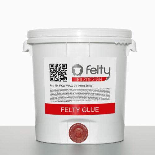 felty Filz Klebstoff felty Glue, Hobbock 28 kg, mit Auslass