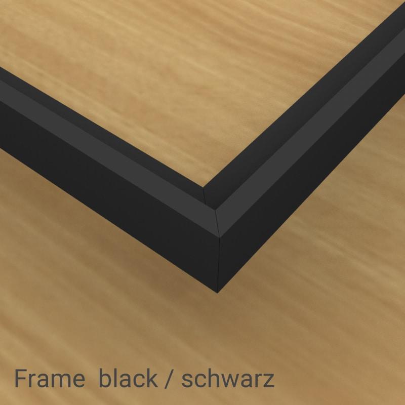felty Filz Pinnwand Frame, Aluminiumprofil, Farbe Schwarz matt