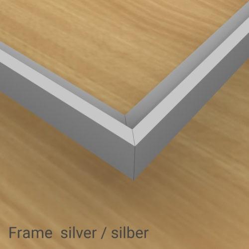 felty Filz Pinnwand Frame, Aluminiumprofil, Farbe Silber matt