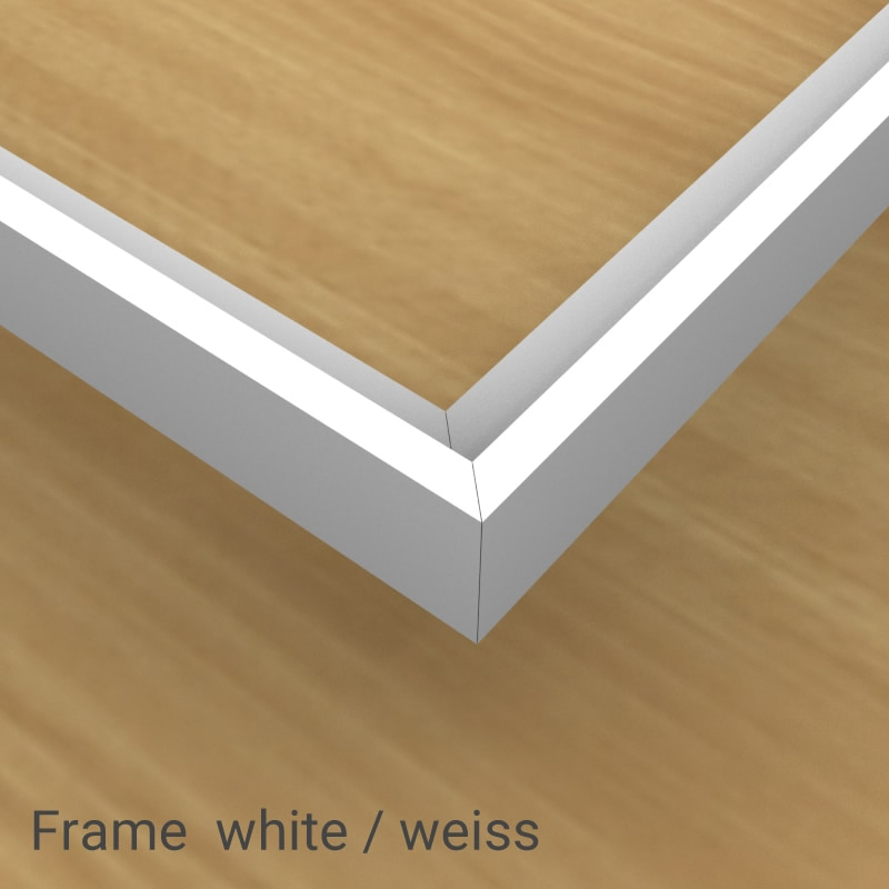felty Filz Pinnwand Frame, Aluminiumprofil, Farbe weiss matt